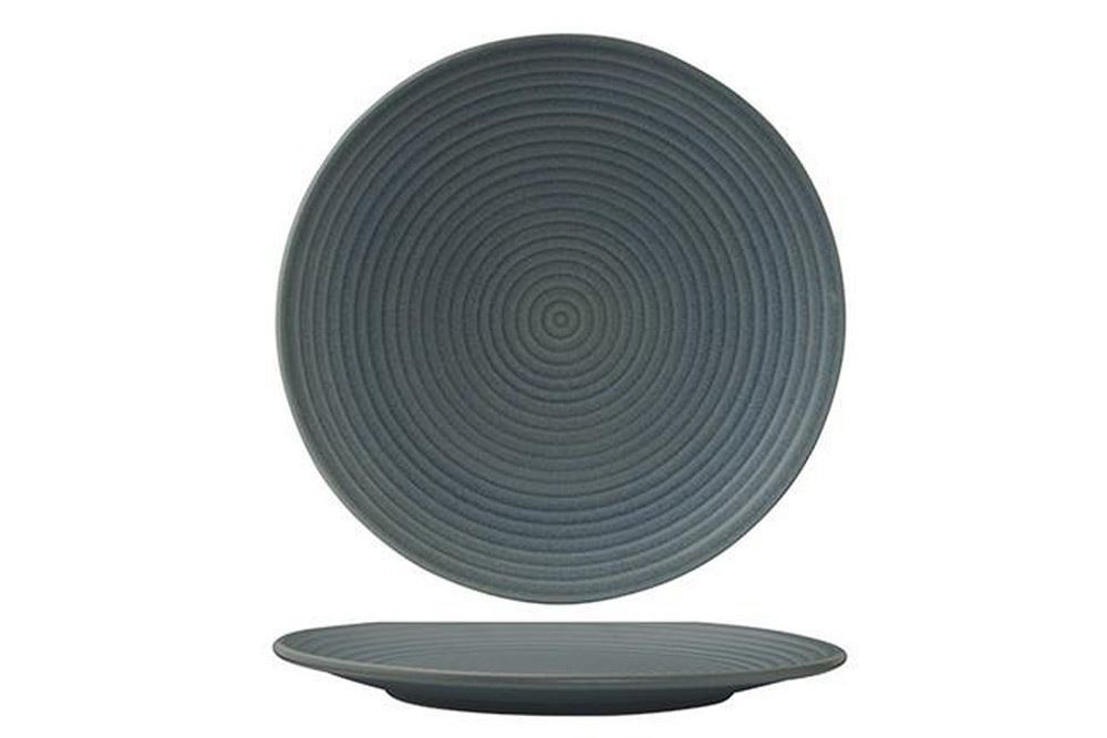 Plate Coupe Ribbed 265mm Blue