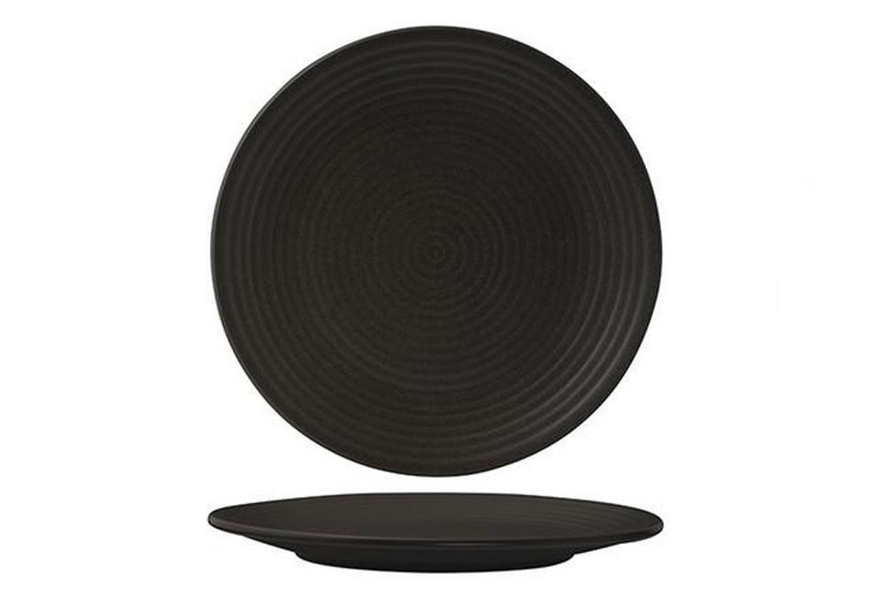Plate Coupe Ribbed 265mm Charcoal