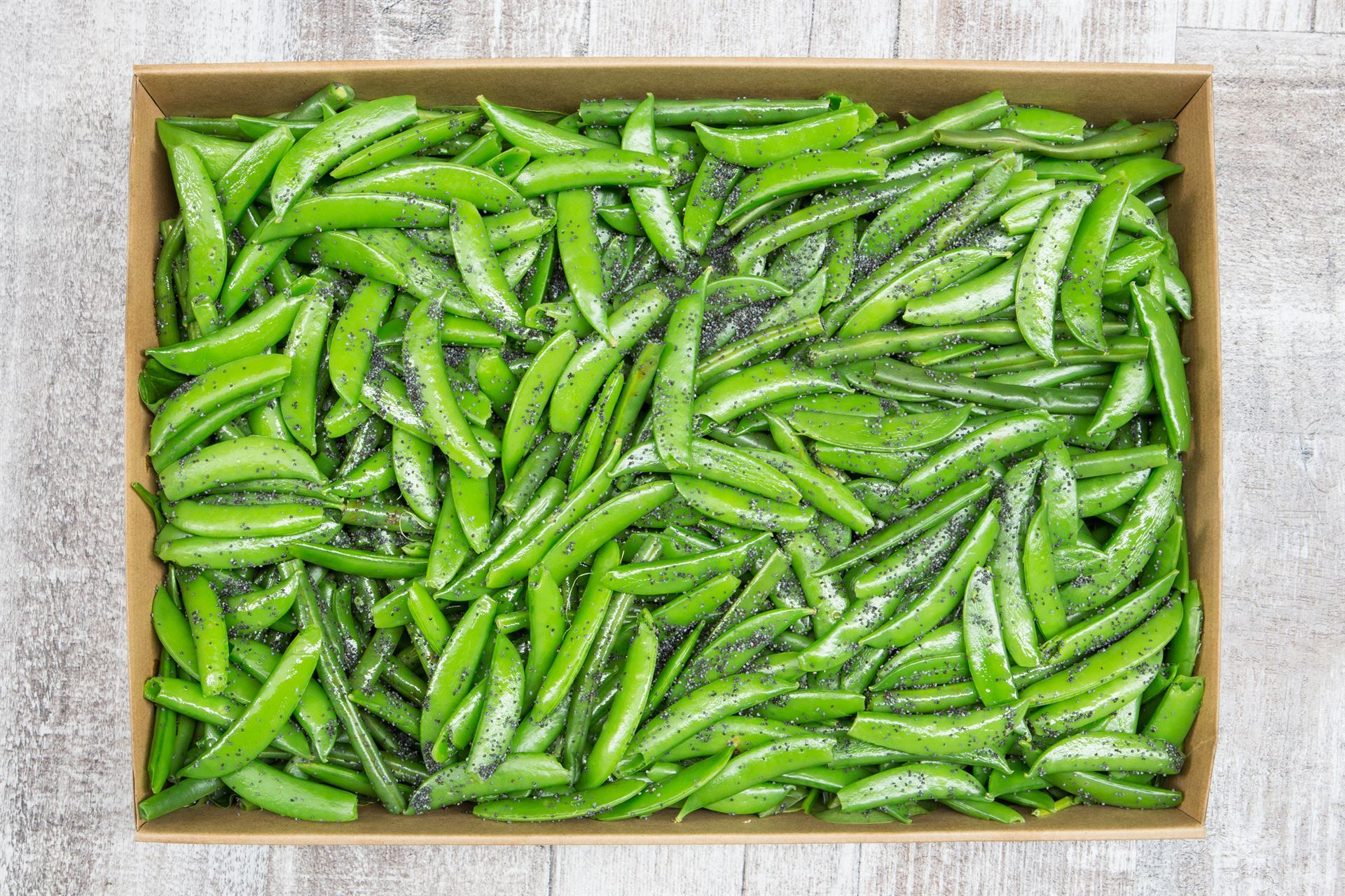 Green beans, sugar snaps, poppy seeds & lemon vinaigrette (v/gf/df/vegan)
