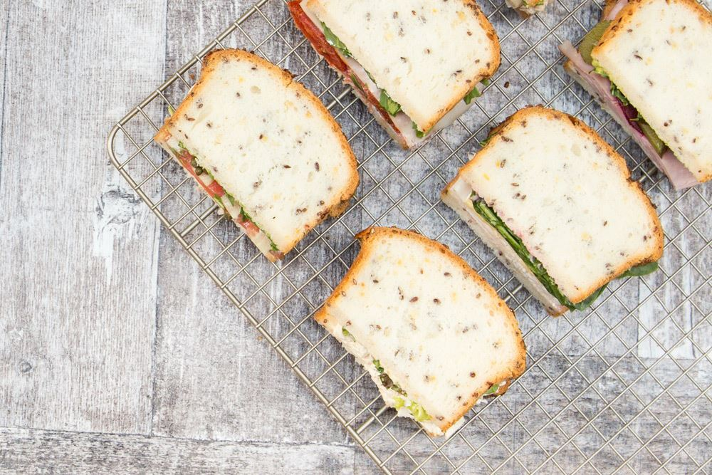Individual gluten free rectangle sandwiches