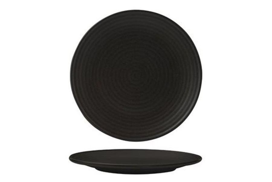 Plate Coupe Ribbed 210mm Charcoal