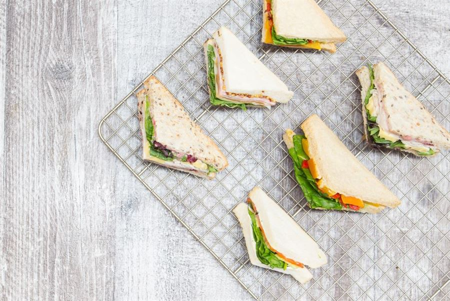 Individual triangle sandwiches