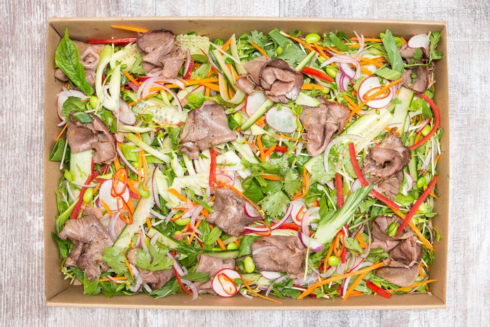 Thai beef salad with sweet & sour asian dressing (gf/df)