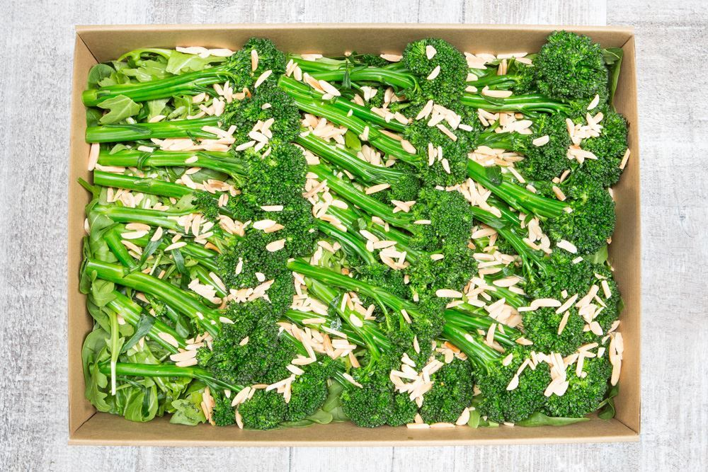 Steamed broccolini & almonds (v/gf/df/vegan)